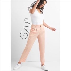 NWT Gap pink high rise drapey trouser pants 16